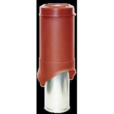 Вентиляционный выход изолированный Krovent Pipe-VT IS 150 мм Красный