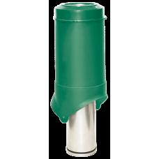 Вентиляционный выход изолированный Krovent Pipe-VT IS 125 мм Зеленый