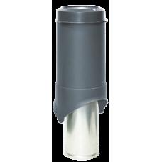 Вентиляционный выход изолированный Krovent Pipe-VT IS 150 мм Серый