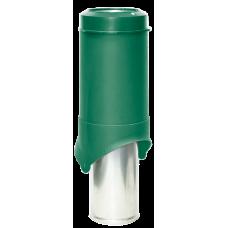 Вентиляционный выход изолированный Krovent Pipe-VT IS 150 мм Зеленый