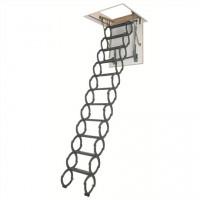 Металлическая термоизоляционная чердачная лестница Fakro LST 60*120*260-280 см