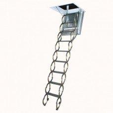 Металлическая огнестойкая чердачная лестница Fakro LSF 50*70*280-300 см