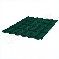 Металлочерепица Stynergy Супермонтеррей 0.45 мм Graphite 45 (RAL 6005 зеленый мох)