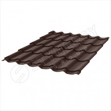 Металлочерепица Stynergy Супермонтеррей 0.5 мм Стальной Кашемир (RAL 8017 шоколадно-коричневый)