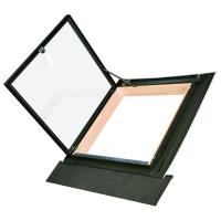 Окно-люк для выхода на крышу для холодных чердаков Fakro WLI 54х83 (с окладом)