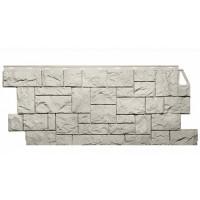 Фасадная панель FineBer Камень Дикий Жемчужный 0,52 м2