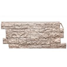 Фасадная панель FineBer Камень Дикий Песочный 0,52 м2
