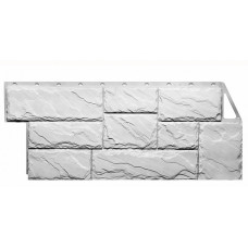 Фасадная панель FineBer Дачный Камень Крупный Белый 0,49 м2