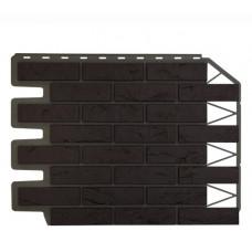 Фасадная панель FineBer Дачный Кирпич Баварский Темно-коричневый 0,47 м2