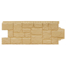 Фасадная панель Grand Line Стандарт Крупный Камень Песочный 0,46 м2