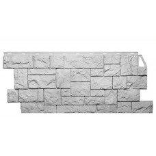 Фасадная панель FineBer Камень Дикий Мелованный Белый 0,52 м2