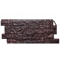 Фасадная панель FineBer Камень Дикий Коричневый 0,52 м2