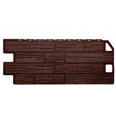 Фасадная панель FineBer Дачный Сланец Коричневый 0,53 м2