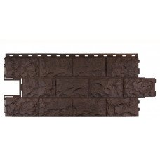 Фасадная панель FineBer Дачный Доломит Темно-коричневый 0,54 м2