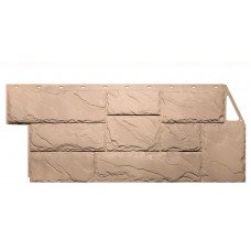Фасадная панель FineBer Дачный Камень Крупный Бежевый 0,49 м2