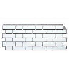 Фасадная панель FineBer Дачный Кирпич Клинкерный Белый 0,52 м2