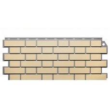 Фасадная панель FineBer Дачный Кирпич Клинкерный Желтый 0,52 м2