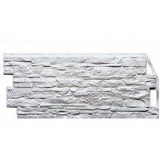 Фасадная панель FineBer Дачный Скала Белый 0,50 м2