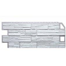 Фасадная панель FineBer Дачный Сланец Белый 0,53 м2