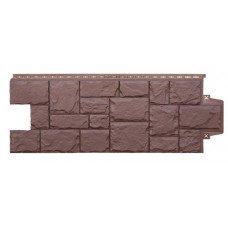 Фасадная панель Grand Line Стандарт Крупный Камень Коричневый 0,46 м2