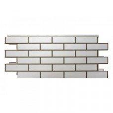 Фасадная панель Nordside Гладкий Кирпич Белый 0,52 м2