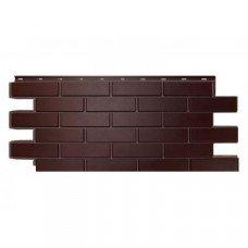 Фасадная панель Nordside Гладкий Кирпич Темно-коричневый 0,52 м2