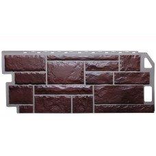 Фасадная панель FineBer Камень Коричневый 0,53 м2