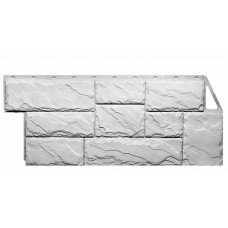 Фасадная панель FineBer Камень Крупный Мелованный Белый 0,49 м2