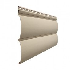 Сайдинг виниловый Docke Premium Блок-Хаус (D 4,7T) Крем-брюле