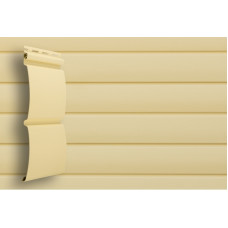 Сайдинг виниловый Grand Line Блок-хаус (D 4,8) Ванильный