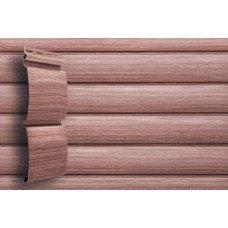 Сайдинг виниловый Grand Line Блок-хаус Тундра (D 4,8) Рябина