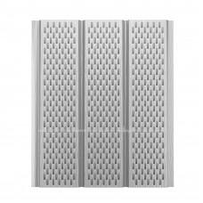 Софит для кровли алюминиевый Aquasystem Полиэстер перфорированный 9010 (Белый) 2,4 м
