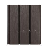 Софит для кровли металлический Aquasystem Pural сплошной RR32 (Темно-коричневый) 2,4 м