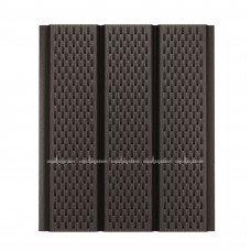 Софит для кровли металлический Aquasystem Pural Matt перфорированный RR32 (Темно-коричневый) 2,4 м