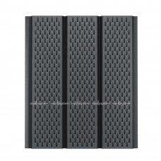 Софит для кровли металлический Aquasystem Pural Matt перфорированный RR23 (Серый) 2,4 м