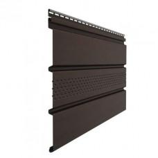 Софит для кровли виниловый Docke Premium перфорация по центру Шоколад 3 м