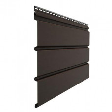 Софит для кровли виниловый Docke Premium сплошной Шоколад 3 м