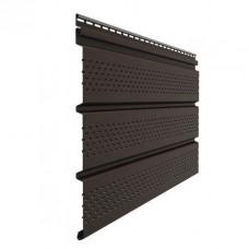 Софит для кровли виниловый Docke Premium перфорированный Шоколад 3 м