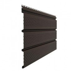 Софит для кровли виниловый Docke Standard перфорированный Шоколад 3 м