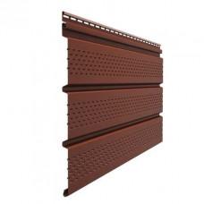 Софит для кровли виниловый Docke Premium перфорированный Гранат 3 м