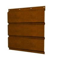Софит для кровли металлический Grand Line сплошной Print Twincolor 0.45 мм Golden Wood