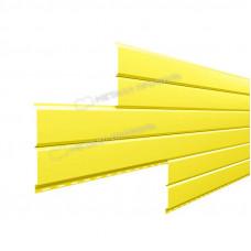 Софит металлический Металл Профиль Lбрус сплошной Norman 0.5 мм RAL 1018 (цинково-желтый)