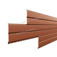 Софит металлический Металл Профиль Lбрус сплошной Norman 0.5 мм RAL 8004 (медно-коричневый)