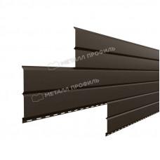 Софит металлический Металл Профиль Lбрус сплошной Полиэстер 0.45 мм RR 32 (темно-коричневый)