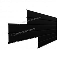 Софит металлический Металл Профиль Lбрус сплошной Viking 0.45 мм RAL 9005 (черный янтарь)