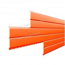 Софит металлический Металл Профиль Lбрус сплошной Полиэстер 0.45 мм RAL 2004 (оранжевый)