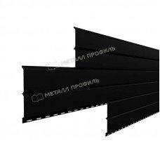 Софит металлический Металл Профиль Lбрус сплошной Viking E 0.5 мм RAL 9005 (черный янтарь)