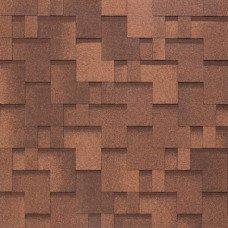 Мягкая кровля Tegola Nobil Tile Акцент Красно-коричневый