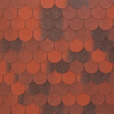 Мягкая кровля Tegola Nobil Tile Верона Красный с отливом