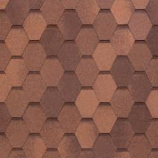 Мягкая кровля Tegola Nobil Tile Вест Красно-коричневый